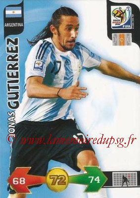 2010 - Panini FIFA World Cup South Africa Adrenalyn XL - N° 011 - Jonas GUTIERREZ (Argentine)