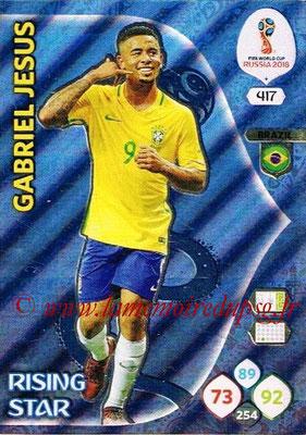 2018 - Panini FIFA World Cup Russia Adrenalyn XL - N° 417 - Gabriel JESUS (Bresil) (Rising Star)