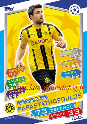 2016-17 - Topps UEFA Champions League Match Attax - N° DOR5 - Sokratis PAPASTATHOPOULOS (Borussia Dortmund)