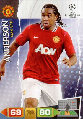 2011-12 - Panini Champions League Cards - N° 150 - ANDERSON (Manchester United FC)