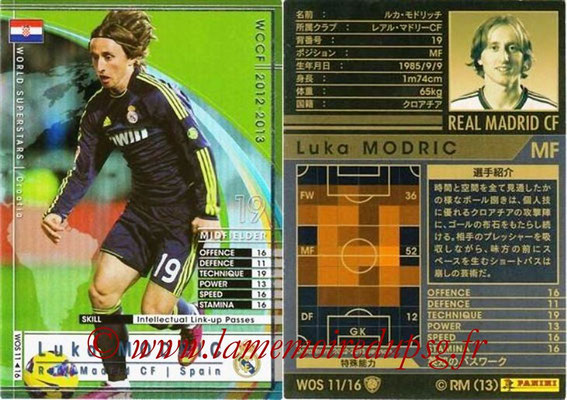 2012-13 - WCCF - N° WOS11 - Luka MODRIC (Real Madrid CF) (World Superstar)