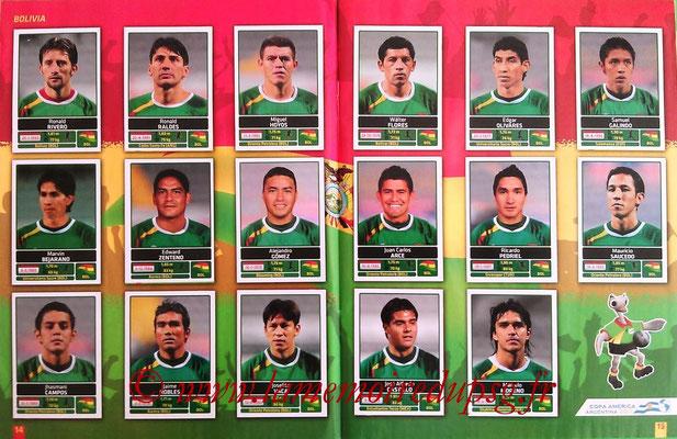 Panini Copa América Argentina 2011 - Pages 14 et 15 - Bolivie