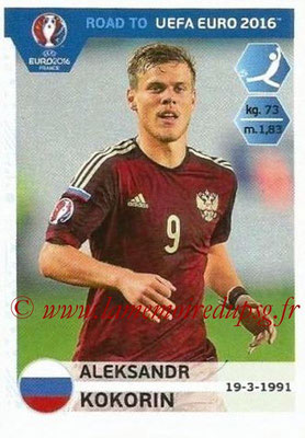 Panini Road to Euro 2016 Stickers - N° 270 - Aleksandr KOKORIN (Russie)