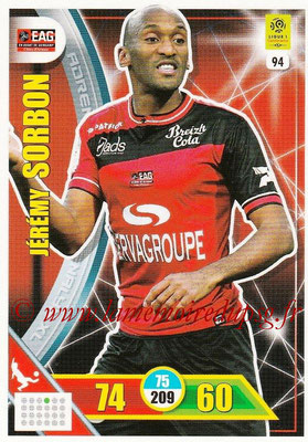 2017-18 - Panini Adrenalyn XL Ligue 1 - N° 094 - Jérémy SORBON (Guingamp)