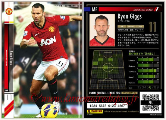 Panini Football League 2013 - PFL04 - N° 061 - Ryan GIGGS (Manchester United)