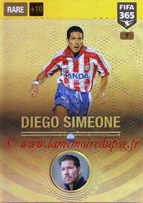 2016-17 - Panini Adrenalyn XL FIFA 365 - N° 007 - Diego SIMEONE (Atletico de Madrid) (Legend)