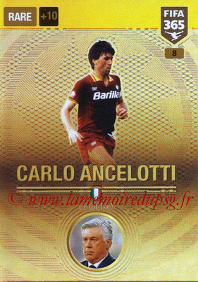 2016-17 - Panini Adrenalyn XL FIFA 365 - N° 008 - Carlo ANCELOTTI (AS Roma) (Legend)