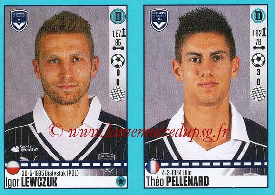 2016-17 - Panini Ligue 1 Stickers - N° 108 + 109 - Igor LEWCZUK + Théo PElLENARD (Bordeaux)