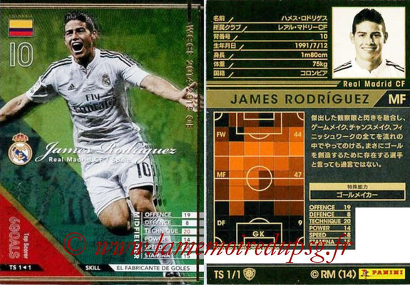 2014-15 - WCCF - N° TS1 - James RODRIGUEZ (Real Madrid CF) (Top Scorer)