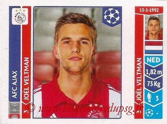 2014-15 - Panini Champions League N° 455 - Joel VELTMAN (AFC Ajax)