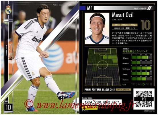 Panini Football League 2013 - PFL01 - N° 062 - Mesut Ozil ( Real Madrid )