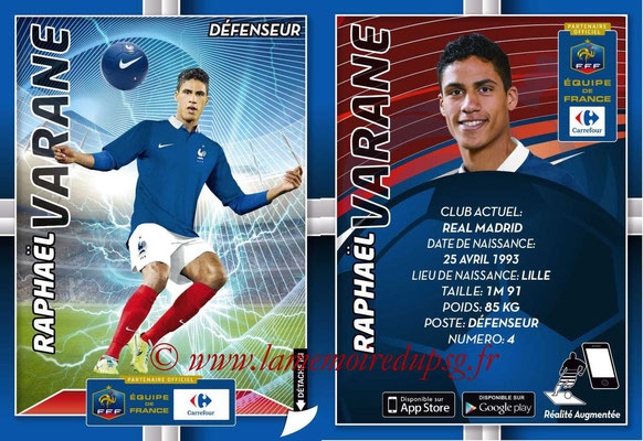 WC 2014 Collection Carrefour 3D Bleus - N° 11 - Raphaël VARANE (Real Madrid)