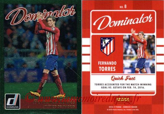 2016 - Panini Donruss Cards - N° D08 - Fernando TORRES (Atletico de Madrid) (Dominator)