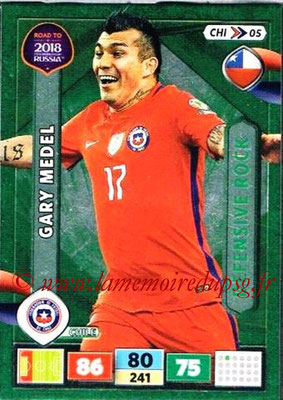 2018 - Panini Road to FIFA World Cup Russia Adrenalyn XL - N° CHI05 - Gary MEDEL (Chili) (Defensive Rock)