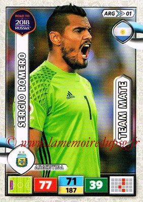2018 - Panini Road to FIFA World Cup Russia Adrenalyn XL - N° ARG01 - Sergio ROMERO (Argentine)
