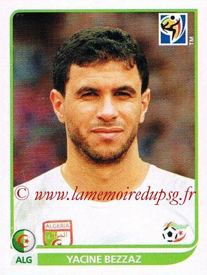 2010 - Panini FIFA World Cup South Africa Stickers - N° 230 - Yacine BEZZAZ (Algérie)