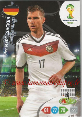 2014 - Panini FIFA World Cup Brazil Adrenalyn XL - N° 108 - Per MERTESACKER (Allemagne)