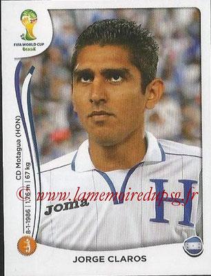 2014 - Panini FIFA World Cup Brazil Stickers - N° 401 - Jorge CLAROS (Honduras)