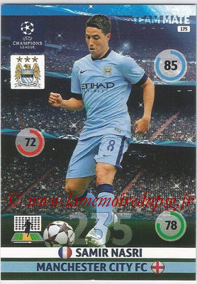 2014-15 - Adrenalyn XL champions League N° 175 - Samie NASRI (Manchester City FC)