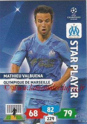 2013-14 - Adrenalyn XL champions League N° 212 - Mathieu VALBUENA (Olympique de Marseille) (Star Player)