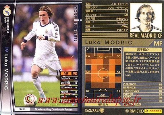 2012-13 - WCCF - N° 363 - Luka MODRIC (Real Madrid CF)