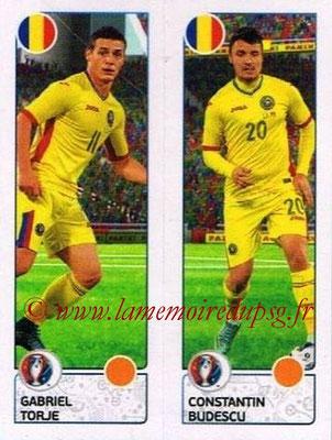 Panini Euro 2016 Stickers - N° 047 - Gabriel TORJE + Constantin BUDESCU (Roumanie)