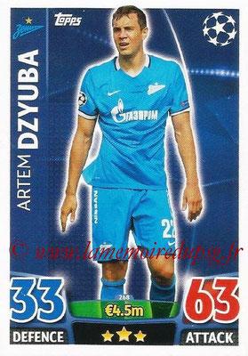 2015-16 - Topps UEFA Champions League Match Attax - N° 268 - Artem DZYUBA (FC Zenit)