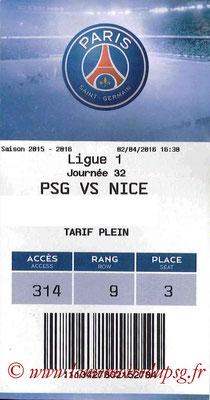 Tickets  PSG-Nice  2015-16