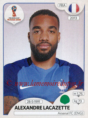 2018 - Panini FIFA World Cup Russia Stickers - N° 208 - Alexandre LACAZETTE (France)
