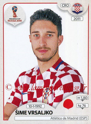 2018 - Panini FIFA World Cup Russia Stickers - N° 315 - Sime VRSALJKO (Croatie)