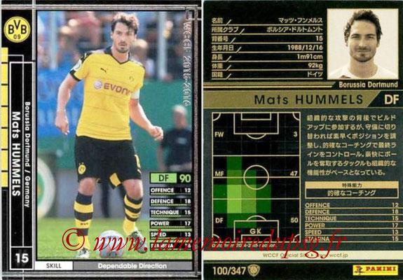 2015-16 - Panini WCCF - N° 100 - Mats HUMMELS (Borussia Dortmund)