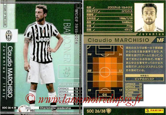 2015-16 - Panini WCCF - N° SOC26 - Claudio MARCHISIO (Juventus FC) (Stars Of The Club)