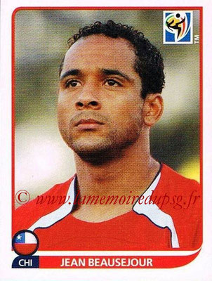 2010 - Panini FIFA World Cup South Africa Stickers - N° 637 - Jean BEAUSEJOUR (Chili)