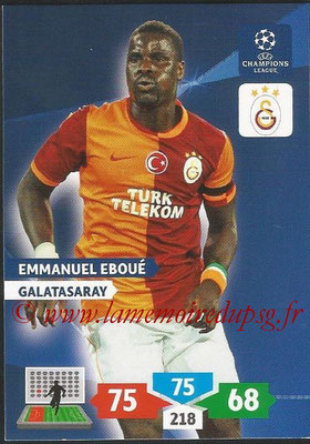 2013-14 - Adrenalyn XL champions League N° 138 - Emmanuel EBOUE (Galatasaray AS)
