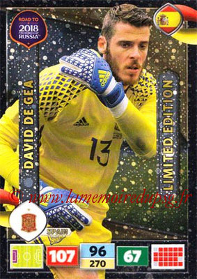 2018 - Panini Road to FIFA World Cup Russia Adrenalyn XL - N° LE-DG - David DE GEA (Espagne) (Limited Edition)