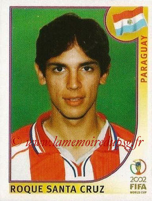 2002 - Panini FIFA World Cup Stickers - N° 148 - Roque SANTA CRUZ (Paraguay)