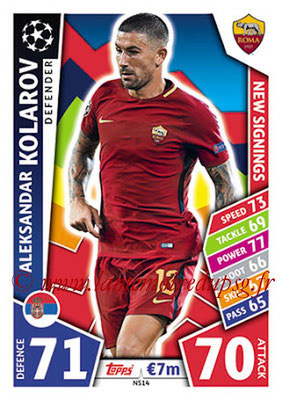 2017-18 - Topps UEFA Champions League Match Attax - N° NS14 - ALEKSANDAR (AS Roma) (New Signings)