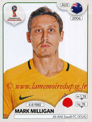 2018 - Panini FIFA World Cup Russia Stickers - N° 221 - Mark MILLIGAN (Australie)