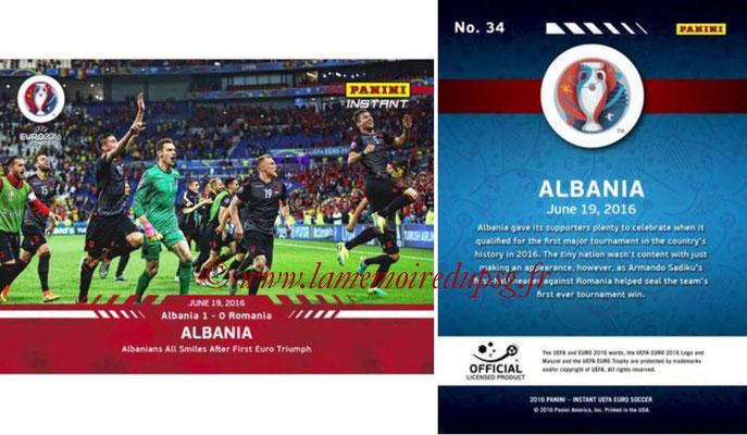 Panini Instant Euro 2016 - N° 034 - Albanie