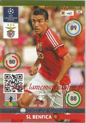 2014-15 - Adrenalyn XL champions League N° 262 - Nicolas GAITAN (SL Benfica) ( Fans' Favourite)