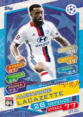 2016-17 - Topps UEFA Champions League Match Attax - N° LYO17 - Alexandre ACAZETTE (Olympique Lyonnais) (Goal King)