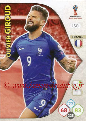 2018 - Panini FIFA World Cup Russia Adrenalyn XL - N° 150 - Olivier GIROUD (France)