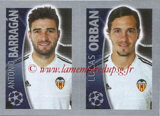 2015-16 - Topps UEFA Champions League Stickers - N° 564 - Antonio BARRAGAN + Lucas ORBAN (FC Valence)