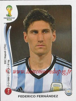 2014 - Panini FIFA World Cup Brazil Stickers - N° 417 - Frederico FERNANDEZ (Argentine)
