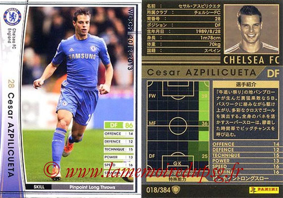 2012-13 - WCCF - N° 018 - César AZPILICUETA (Chelsea FC)