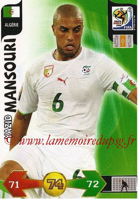 2010 - Panini FIFA World Cup South Africa Adrenalyn XL - N° 003 - Yazid MANSOURI (Algerie)