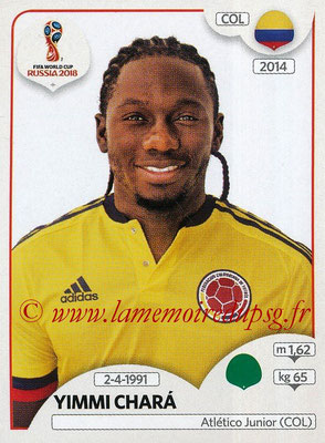 2018 - Panini FIFA World Cup Russia Stickers - N° 650- Yimmi CHARA (Colombie)