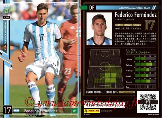 Panini Football League 2015 - PFL13 - N° 088 - Federico FERNANDEZ (Argentine)