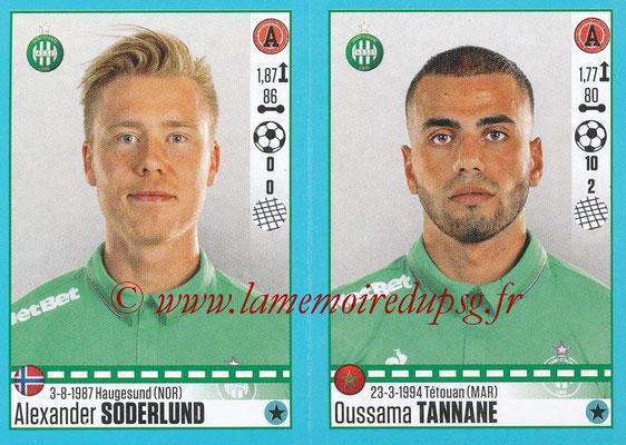 2016-17 - Panini Ligue 1 Stickers - N° 798 + 799 - Alexander SODERLUND + Oussama TANNANE (Saint-Etienne)