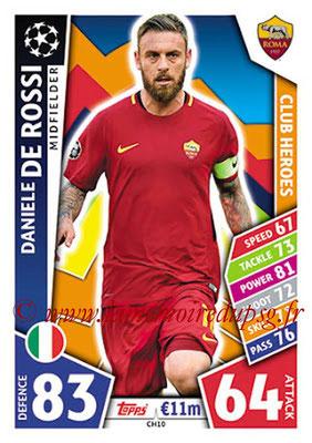 2017-18 - Topps UEFA Champions League Match Attax - N° CH10 - Daniele DE ROSSI (AS Roma) (Club Heroes)
